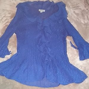 Dress Barn blue cardigan